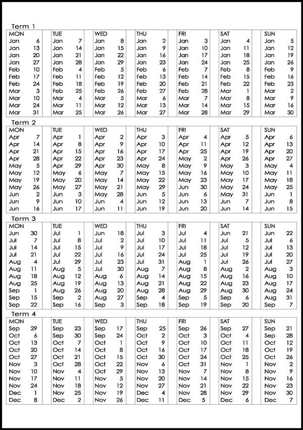 MES 2014 Dates