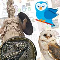 The My English School owl mascot